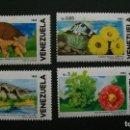 Sellos: NATURALEZA-FLORA Y FAUNA DE VENEZUELA-VENEZUELA-1986-SERIE COMPLETA**(MNH). Lote 160466830