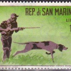 Sellos - 1962 - SAN MARINO - CAZA - CAZADOR CON PERRO - YVERT 562 - 160863574