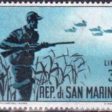 Sellos - 1962 - SAN MARINO - CAZA - CAZA DE PATOS - YVERT 564 - 160864622