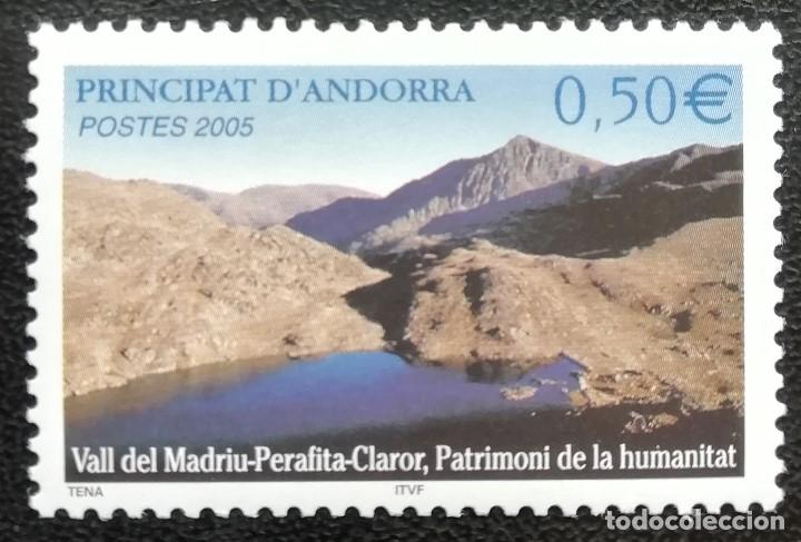 2005. NATURALEZA. ANDORRA FRANCESA. 605. PATRIMONIO HUMANIDAD. VALL MADRIU-PERAFITA-CLAROR. NUEVO. (Sellos - Temáticas - Naturaleza)