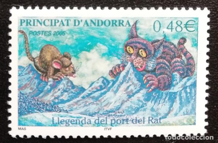 2005. NATURALEZA. ANDORRA FRANCESA. 606. LEYENDA DEL ALT DE LA RATA. NUEVO. (Sellos - Temáticas - Naturaleza)