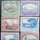 Sellos: LOTE. SELLOS 1927-1946. SUDÁFRICA. 10 DIFERENTES. POBLADOS, GRUTAS, AVES, PUERTO, MONTAÑAS. USADO.. Lote 167530596