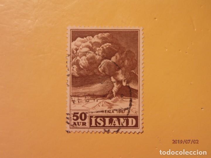 ISLANDIA - MONTAÑAS Y VOLCANES - HEKLA. (Sellos - Temáticas - Naturaleza)