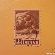 Sellos: ISLANDIA - MONTAÑAS Y VOLCANES - HEKLA.. Lote 170104536