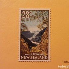 Sellos: NEW ZEALAND - MONTAÑAS, VOLCANES Y GLACIARES - GLACIAR FOX.. Lote 170105424