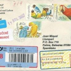 Sellos: 2007. REP. CHECA/CZECH REPUBLIC. SOBRE CIRCULADO, SELLOS FAUNA, AVES EXÓTICAS/BIRDS.. Lote 176909000