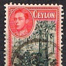 Sellos: CEILAN Nº 246, PRODUCCIÓN DE CAUCHO, USADO (AÑO 1938). Lote 177649685