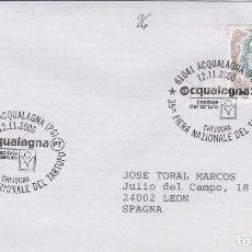 Sellos: 2000 ITALIA ACQUALAGNA , FERIA TRUFA - TEMA MICOLOGIA ,SETAS, HONGOS- SOBRE /SPD/FDC. Lote 186096666