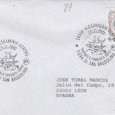 Sellos: 2000 ITALIA ALESSANDRIA , FERIA TRUFA - TEMA MICOLOGIA ,SETAS, HONGOS- SOBRE /SPD/FDC. Lote 186096711