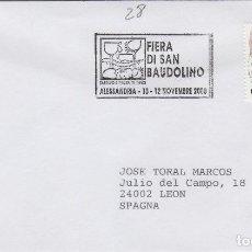 Sellos: 2000 ITALIA ALESSANDRIA , FERIA DI SAN BAUDOLINO - TEMA MICOLOGIA ,SETAS, HONGOS- SOBRE /SPD/FDC. Lote 186096763
