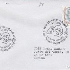 Sellos: 2000 ITALIA SAN PIETRO VI MUESTRA TRUFA - TEMA MICOLOGIA ,SETAS, HONGOS- SOBRE /SPD/FDC. Lote 186096788