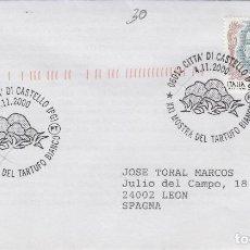 Sellos: 2000 ITALIA CITTA DI CASTELLO , XXI MUESTRA TRUFA - TEMA MICOLOGIA ,SETAS, HONGOS- SOBRE /SPD/FDC. Lote 186096820