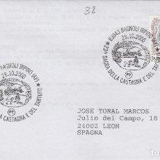 Sellos: 2000 ITALIA BAGNOLI SAGRA DELLA CATAGNA DEL TARTUFO - TEMA MICOLOGIA ,SETAS, HONGOS- SOBRE /SPD/FDC. Lote 186096908
