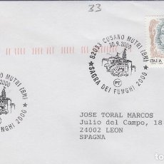 Sellos: 2000 ITALIA CUSANO MUTRI SAGRA DEI FUNGHI - TEMA MICOLOGIA ,SETAS, HONGOS- SOBRE /SPD/FDC. Lote 186096958