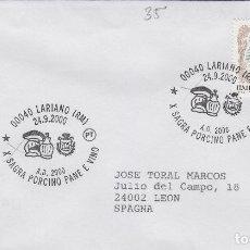 Sellos: 2000 ITALIA LARIANO , X SAGRA PORCINO PANE E VINO - TEMA MICOLOGIA ,SETAS, HONGOS- SOBRE /SPD/FDC. Lote 186097026
