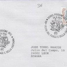 Sellos: 2000 ITALIA PISOGNE , FIESTA DEL FUNGO Y CASTAÑA - TEMA MICOLOGIA ,SETAS, HONGOS- SOBRE /SPD/FDC. Lote 186097052