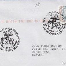 Sellos: 2000 ITALIA , BUDOIA , 33 FIESTA DEL FUNGHI - TEMA MICOLOGIA ,SETAS, HONGOS- SOBRE /SPD/FDC. Lote 186097173