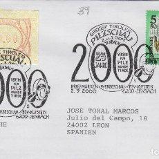 Sellos: 2000 AUSTRIA GROSSE TIROLES PILZSCHAU - TEMA MICOLOGIA ,SETAS, HONGOS- SOBRE /SPD/FDC. Lote 186097238