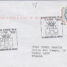 Sellos: 2000 ITALIA SCHEGGINO VII DEGUSTACIÓN DE LA TRUFA - TEMA MICOLOGIA ,SETAS, HONGOS- SOBRE /SPD/FDC. Lote 186097365