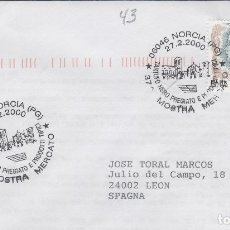 Sellos: 2000 ITALIA NORCIA , 37 MUESTRA TRUFA - TEMA MICOLOGIA ,SETAS, HONGOS- SOBRE /SPD/FDC. Lote 186097421