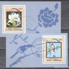 Sellos: CUBA H.B. Nº 78º Y 79º FLORA Y FAUNA DE CUBA. AVES. Lote 186719676