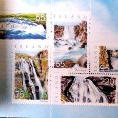 Sellos: ISLANDIA. C1060A CASCADAS. CARNET PRESTIGE CON 8 PÁGINAS ILUSTRADAS Y LOS SELLOS 1060A/64A. 2006. SE. Lote 198200653