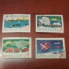 Sellos: SELLOS RUSIA (CCCP.URSS) MTDOS/CHARNELA/1963/INVESTIGACIÓN/ANTARTICA/ORUGA/PINGÜINO/BARCO/AVION/PECE. Lote 198350802