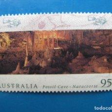 Sellos: +AUSTRALIA 1996, CUEVA Y FOSIL DE NARACOORTE.. Lote 206525458