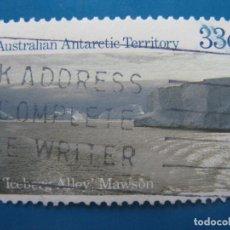 Sellos: +AUSTRALIA, TERRITORIO ANTARTICO, 1985, ICEBERG ALLEY MAWSON, YVERT 69. Lote 206558767