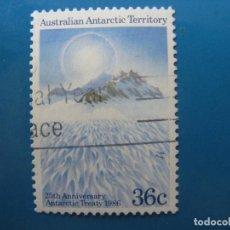 Sellos: +AUSTRALIA, TERRITORIO ANTARTICO, 1986, 25 ANIV. DEL TRATADO ANTARTICO, YVERT 73. Lote 206559032