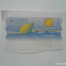 Sellos: SELLO NATURALEZA ETIQUETA DE FRANQUEO ATM 21PTS CORREOS ESPAÑA. Lote 212649227