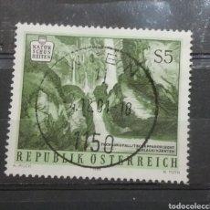 Sellos: SELLOS AUSTRIA (OSTERREICH) MTDOS/1986/BELEZAS/NATURALEZA/CASCADA/NIÑA/BOSQUE/ROCAS/ARBOLES/NATURALE. Lote 213510527