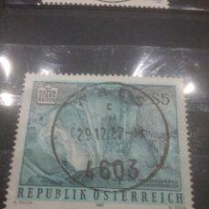 Sellos: SELLOS AUSTRIA (OSTERREICH) MTDOS/1987/NATURALEZA/GRUTA/CUEVA/ESTALAGMITAS/SUBTERRANEO/. Lote 214047323