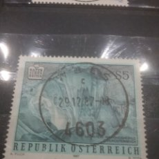 Sellos: SELLOS AUSTRIA (OSTERREICH) MTDOS/1987/NATURALEZA/GRUTA/CUEVA/ESTALAGMITAS/SUBTERRANEO/. Lote 214047376