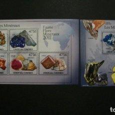 Sellos: /10.08/-COMORES-2011-MINIPLIEGO+BLOQUE EN NUEVO/**MNH/-MINERALES. Lote 214130750