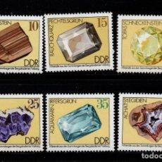 Sellos: ALEMANIA ORIENTAL 1687/92** - AÑO 1974 - MINERALES. Lote 217454931