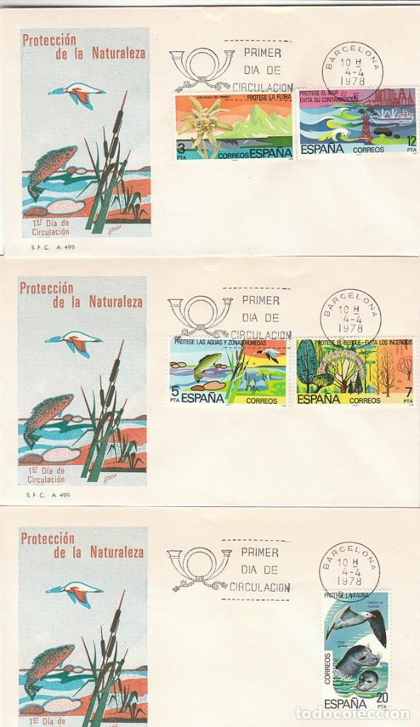 EDIFIL 2469/73, PROTECCION DE LA NATURALEZA, PRIMER DIA DE 4-4-1978 EN 2 SOBRES DEL SFC (Sellos - Temáticas - Naturaleza)