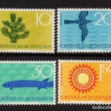 Sellos: LIECHTENSTEIN 408/11** - AÑO 1966 - PROTECCION DE LA NATURALEZA - FLORA Y FAUNA. Lote 219091028