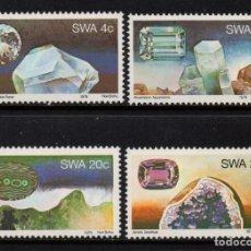 Sellos: SUDOESTE AFRICANO 419/22** - AÑO 1979 - MINERALES Y PIEDRAS PRECIOSAS. Lote 220981060