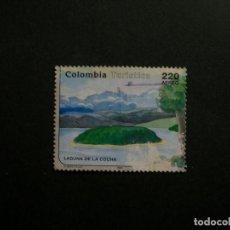 Sellos: /24.10/-COLOMBIA-1993-CORREO AEREO 220 P. Y&T 876 EN USADO/º/-PAISAJES. Lote 222160076