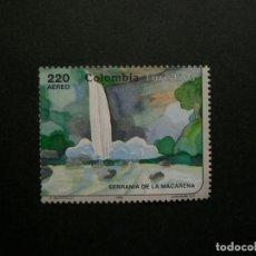 Sellos: /24.10/-COLOMBIA-1993-CORREO AEREO 220 P. Y&T 877 EN USADO/º/-PAISAJES. Lote 222160205