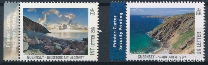 GUERNESEY 2012 IVERT 1388/9 *** VISTAS DE GUERNESEY - NATURALEZA (Sellos - Temáticas - Naturaleza)