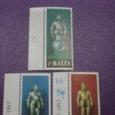 Sellos: SELLO MALTA NUEVOS/1977/ARMADURA/UNIFORME/SOLDADOS/TESOROS/ARTE/EJERCITO/MEDIEVALES/MILITAR/CABALLER. Lote 233840715