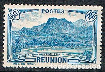 REUNION Nº 166, MONTAÑA: PICO DE ANCHAIN, NUEVO SIN GOMA (Sellos - Temáticas - Naturaleza)