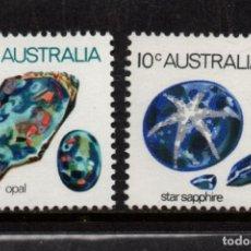 Sellos: AUSTRALIA 545/46** - AÑO 1974 - MINERALES. Lote 240678025