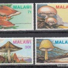 Sellos: MALAWI. 1985 YVERT Nº 445 / 448 /**/, SETAS / HONGOS.. Lote 243459365