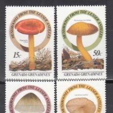 Sellos: GRENADA - GRENADINES. 1986 YVERT Nº 666 / 669 /**/, SETAS / HONGOS.. Lote 243461580