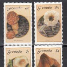 Sellos: GRENADA 1986 YVERT Nº 1335 / 1338 /**/, SETAS / HONGOS.. Lote 243462200
