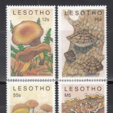 Sellos: KENYA. 1989 YVERT Nº 852 / 855 /**/, SETAS / HONGOS.. Lote 243466545