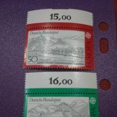 Sellos: SELLOS ALEMANIA, R. FEDERAL NUEVO/1977/EUROPA/CEPT/PAISAJES/AUTOPISTA/TRENES/MONTAÑAS/PUENTE/ARQUIT. Lote 246164100